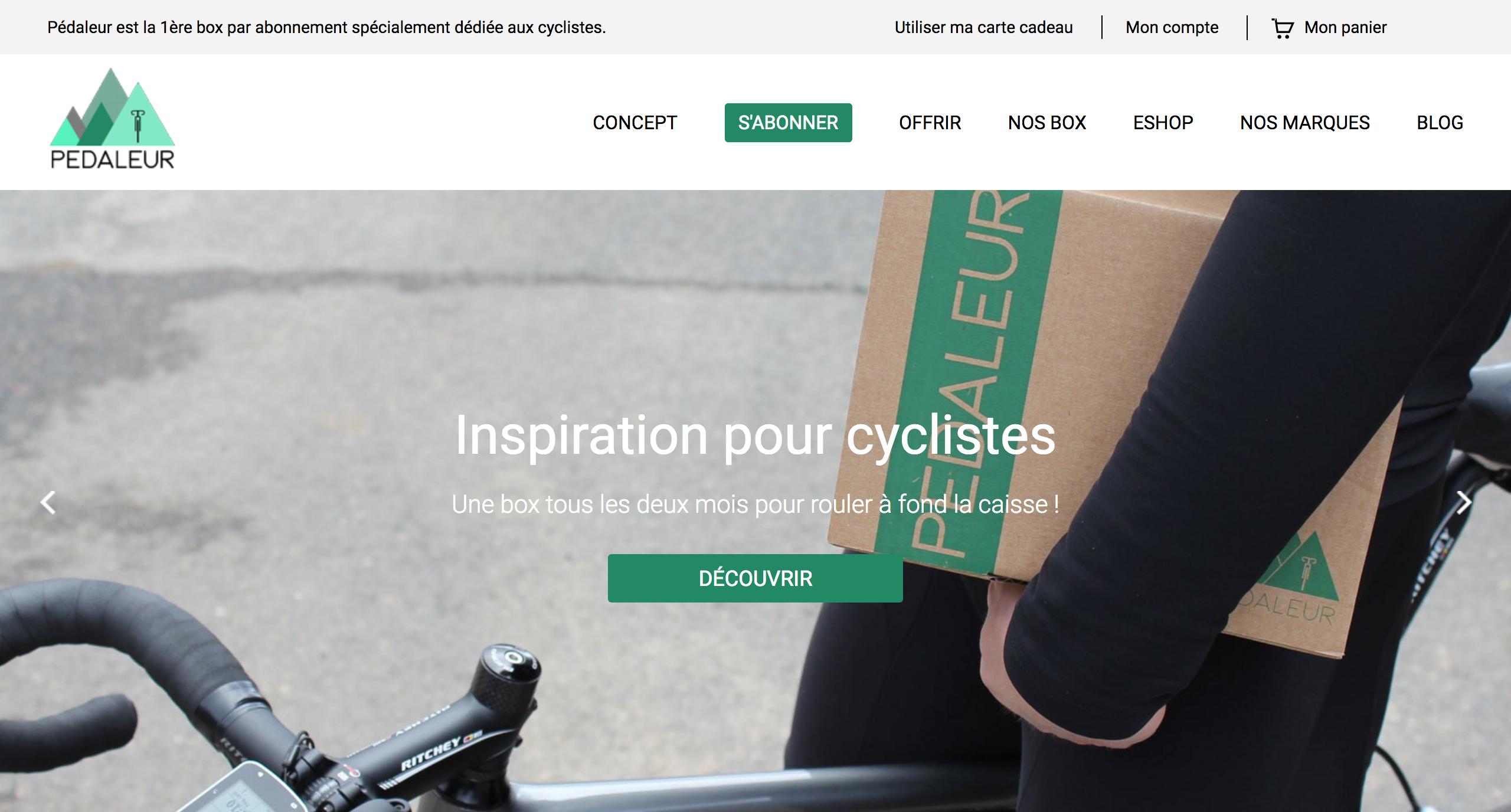 Site web Pédaleur
