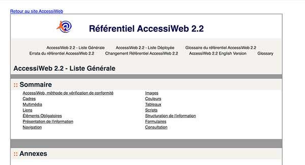 Référentiel d'accessibilité Accessiweb