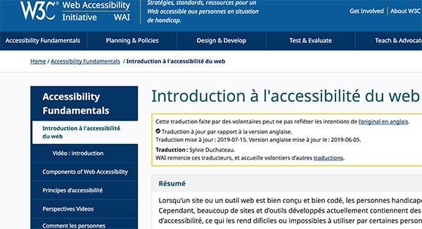 W3C Intro accessibilité