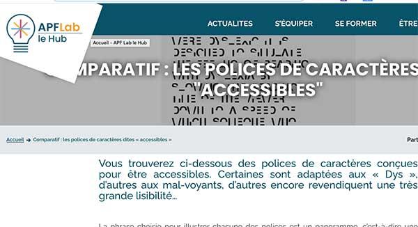 Comparatif polices accessibles