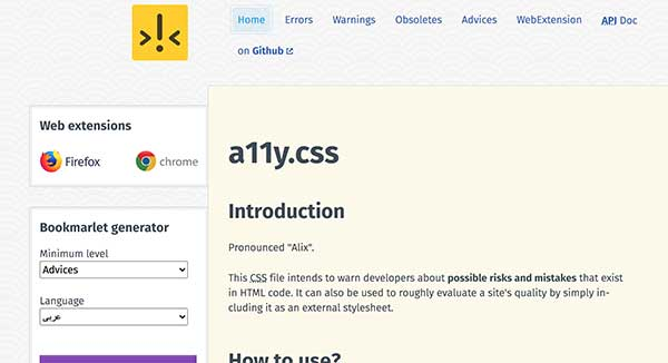 A11y.css, feuille CSS
